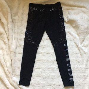 PINK Victoria secret black leggings sz medium